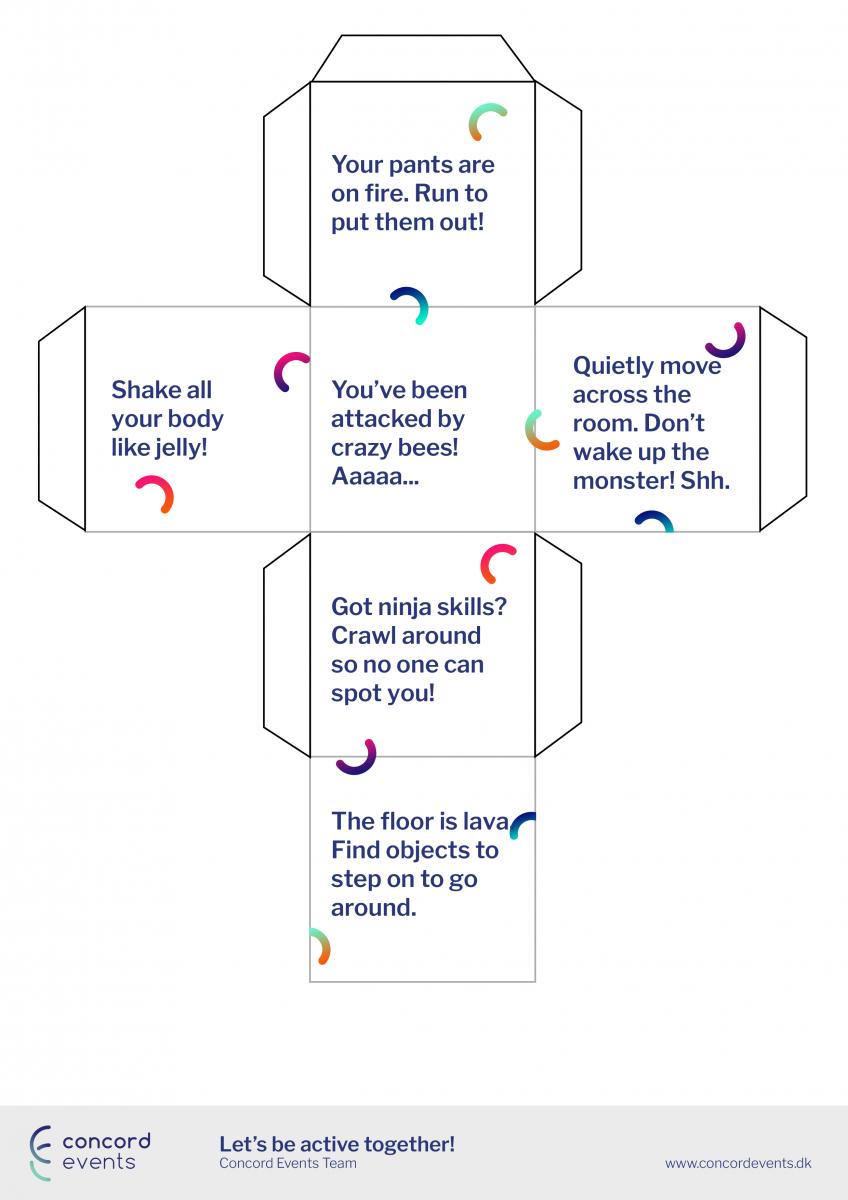 Activities Dice - Set the activity